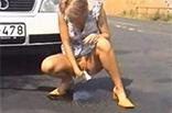 Meine Ex Freundin beim outdoor Pissen