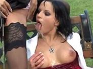 Angepisst im Dreier Porno