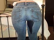 In Jeans einpinkeln macht mich geil