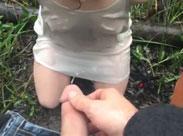 Freundin im Garten angepisst